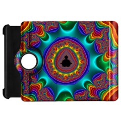 3d Glass Frame With Kaleidoscopic Color Fractal Imag Kindle Fire HD 7