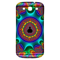 3d Glass Frame With Kaleidoscopic Color Fractal Imag Samsung Galaxy S3 S III Classic Hardshell Back Case