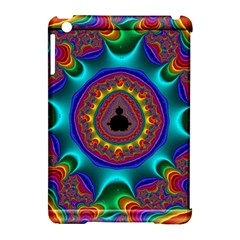 3d Glass Frame With Kaleidoscopic Color Fractal Imag Apple iPad Mini Hardshell Case (Compatible with Smart Cover)