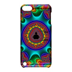 3d Glass Frame With Kaleidoscopic Color Fractal Imag Apple Ipod Touch 5 Hardshell Case With Stand