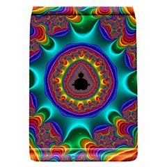 3d Glass Frame With Kaleidoscopic Color Fractal Imag Flap Covers (S)