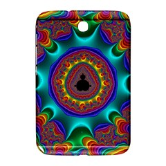 3d Glass Frame With Kaleidoscopic Color Fractal Imag Samsung Galaxy Note 8 0 N5100 Hardshell Case