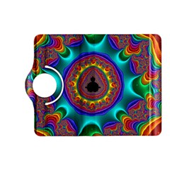 3d Glass Frame With Kaleidoscopic Color Fractal Imag Kindle Fire HD (2013) Flip 360 Case