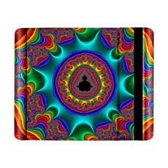 3d Glass Frame With Kaleidoscopic Color Fractal Imag Samsung Galaxy Tab Pro 8 4  Flip Case