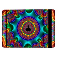 3d Glass Frame With Kaleidoscopic Color Fractal Imag Samsung Galaxy Tab Pro 12.2  Flip Case