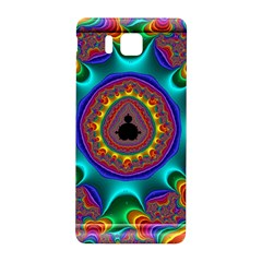 3d Glass Frame With Kaleidoscopic Color Fractal Imag Samsung Galaxy Alpha Hardshell Back Case