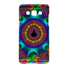 3d Glass Frame With Kaleidoscopic Color Fractal Imag Samsung Galaxy A5 Hardshell Case