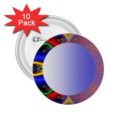 Texture Circle Fractal Frame 2.25  Buttons (10 pack)