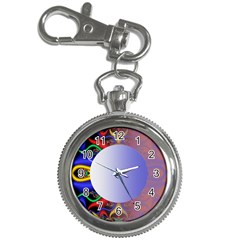 Texture Circle Fractal Frame Key Chain Watches
