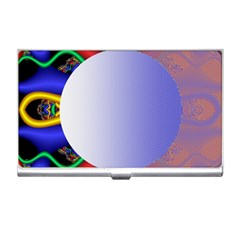 Texture Circle Fractal Frame Business Card Holders