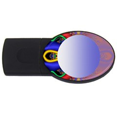 Texture Circle Fractal Frame USB Flash Drive Oval (2 GB)