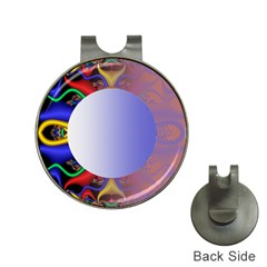 Texture Circle Fractal Frame Hat Clips With Golf Markers