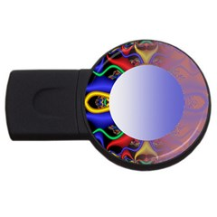 Texture Circle Fractal Frame Usb Flash Drive Round (4 Gb)