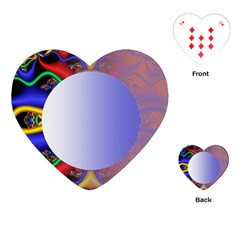 Texture Circle Fractal Frame Playing Cards (heart)