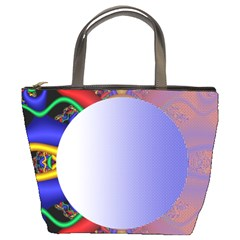 Texture Circle Fractal Frame Bucket Bags