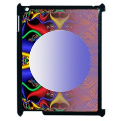 Texture Circle Fractal Frame Apple Ipad 2 Case (black)
