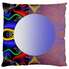 Texture Circle Fractal Frame Large Cushion Case (One Side)