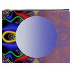 Texture Circle Fractal Frame Cosmetic Bag (XXXL)