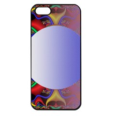 Texture Circle Fractal Frame Apple iPhone 5 Seamless Case (Black)