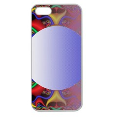 Texture Circle Fractal Frame Apple Seamless iPhone 5 Case (Clear)