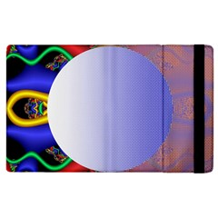 Texture Circle Fractal Frame Apple iPad 2 Flip Case