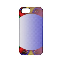 Texture Circle Fractal Frame Apple iPhone 5 Classic Hardshell Case (PC+Silicone)