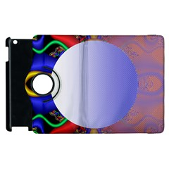 Texture Circle Fractal Frame Apple Ipad 2 Flip 360 Case