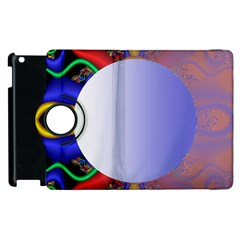 Texture Circle Fractal Frame Apple iPad 3/4 Flip 360 Case