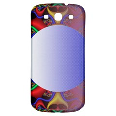Texture Circle Fractal Frame Samsung Galaxy S3 S III Classic Hardshell Back Case