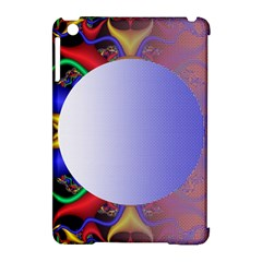 Texture Circle Fractal Frame Apple iPad Mini Hardshell Case (Compatible with Smart Cover)