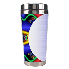 Texture Circle Fractal Frame Stainless Steel Travel Tumblers