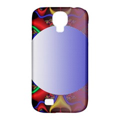 Texture Circle Fractal Frame Samsung Galaxy S4 Classic Hardshell Case (PC+Silicone)