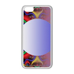 Texture Circle Fractal Frame Apple iPhone 5C Seamless Case (White)