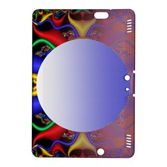 Texture Circle Fractal Frame Kindle Fire HDX 8.9  Hardshell Case