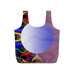 Texture Circle Fractal Frame Full Print Recycle Bags (S)