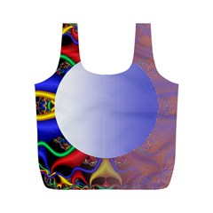 Texture Circle Fractal Frame Full Print Recycle Bags (M)