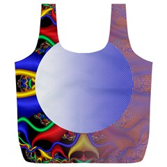 Texture Circle Fractal Frame Full Print Recycle Bags (L)