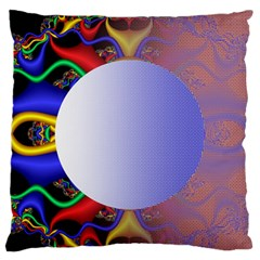 Texture Circle Fractal Frame Large Flano Cushion Case (Two Sides)