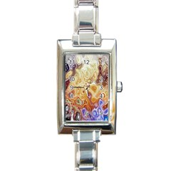 Space Abstraction Background Digital Computer Graphic Rectangle Italian Charm Watch