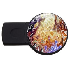 Space Abstraction Background Digital Computer Graphic USB Flash Drive Round (2 GB)
