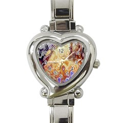Space Abstraction Background Digital Computer Graphic Heart Italian Charm Watch
