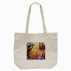 Space Abstraction Background Digital Computer Graphic Tote Bag (Cream)