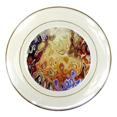 Space Abstraction Background Digital Computer Graphic Porcelain Plates
