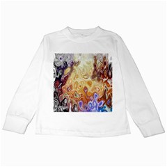 Space Abstraction Background Digital Computer Graphic Kids Long Sleeve T-Shirts