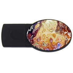 Space Abstraction Background Digital Computer Graphic USB Flash Drive Oval (4 GB)