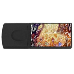 Space Abstraction Background Digital Computer Graphic Usb Flash Drive Rectangular (4 Gb)