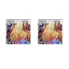 Space Abstraction Background Digital Computer Graphic Cufflinks (square)