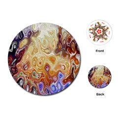 Space Abstraction Background Digital Computer Graphic Playing Cards (Round)