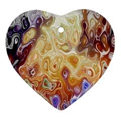 Space Abstraction Background Digital Computer Graphic Heart Ornament (Two Sides)