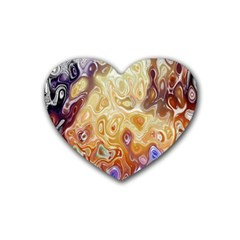 Space Abstraction Background Digital Computer Graphic Heart Coaster (4 Pack)
